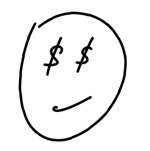 draw dollar face