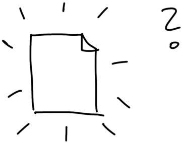 empty page sketchnote