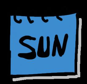 free icon blue sunday