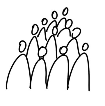 drawing a group of people