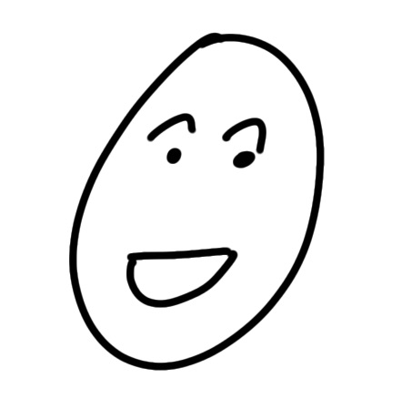 simple drawn happy face