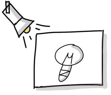 shadow box and lamp